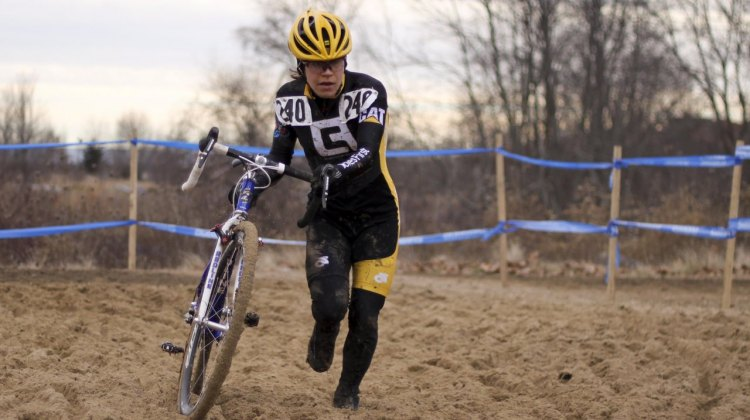 Andrea Smith ran away from the Masters 30-34 Women's field at the 2012 Cyclocross National Championships. © Cyclocross Magazine