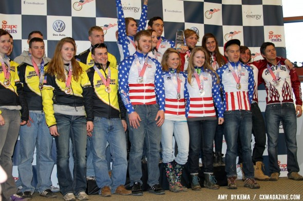 Mars Hill takes the D2 Collegiate 2012 Cyclocross National Championships over Cumberland and U.S. Military Academy. © Amy Dykema