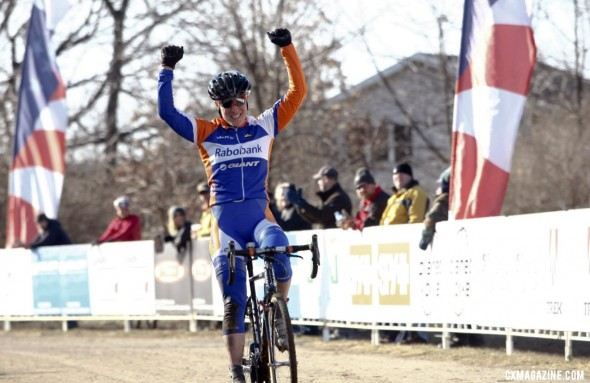 Katie Compton wins her eight title in a row at the 2012 Cyclocross National Championships in Madison, WI. © Cyclocross Magazine