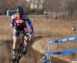 Don Myrah climbed away from Jon Cariveau and the rest of the field to defend his Masters Men 45-49 National Title. © Cyclocross Magazine