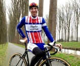 Powers in his new US National Champion Rapha-Focus kit.