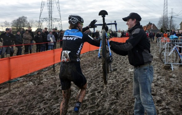 Lewis Rattray has had a crash course in Belgian mud.