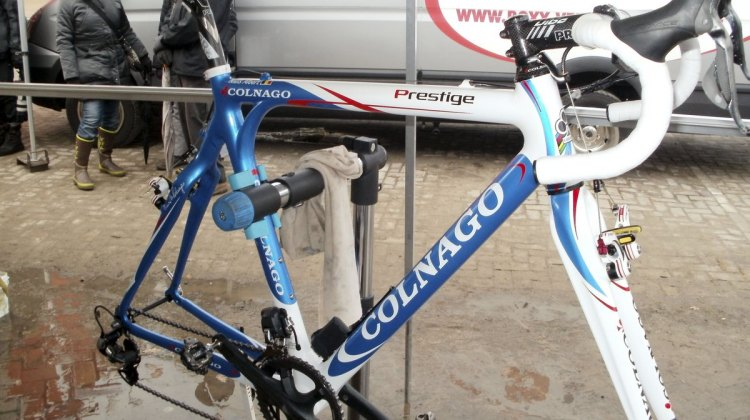 Niels Albert's 2012 World Championship winning Colnago Prestige carbon cyclocross bike.