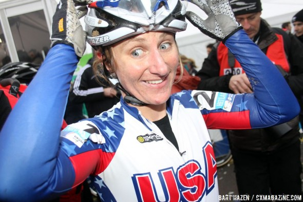 Amy Dombroski post-Worlds. © Bart Hazen