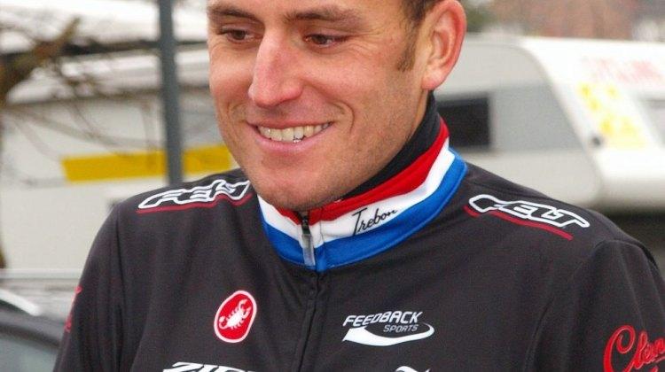 Trebon smiling, post-race. © Jonas Bruffaerts