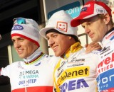 The podium: Pauwels, Meeusen and Stybar. Bart Hazen