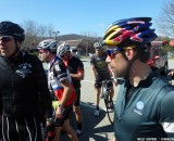Tim tries to rally the group to get back on the road after a quick drink break. Cyclocross Magazine