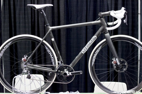 Appleman Bicycles' nude carbon cyclocross bike, made in Minnesota. ©Cyclocross Magazine