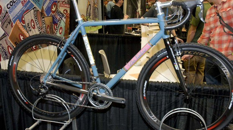 Mike DeSalvo's custom titanium cyclocross bike at NAHBS 2012. ©Kevin White