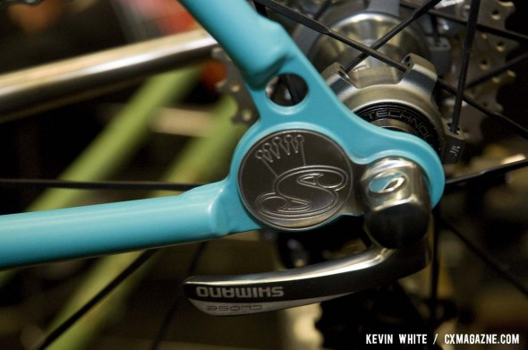 Sycip Bikes' custom rear dropouts on his NAHBS 2012 cyclocross show bike. ©Kevin White