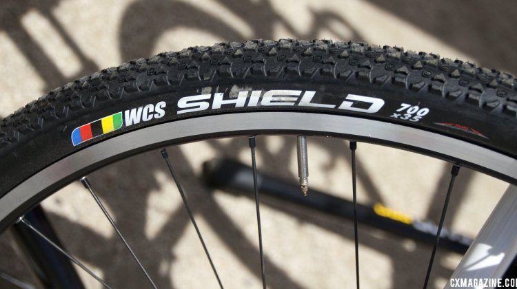 The new Ritchey WCS Shield 700x35 tire has lots of short knobs f