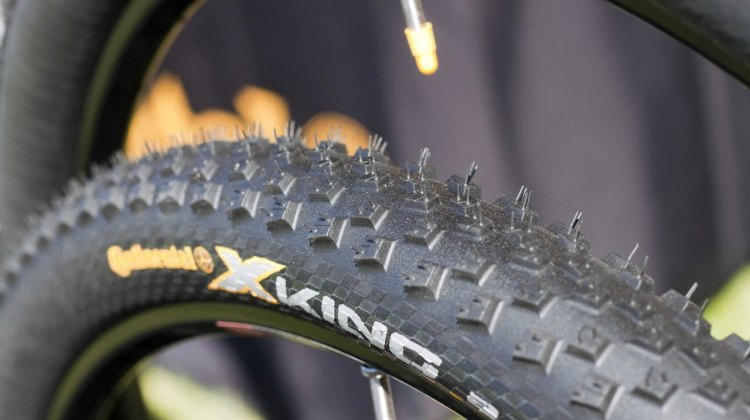 A preview of the tread on Continental's new 2013 cyclocross tubular.
