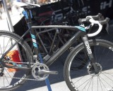 The new 2013 Raleigh RXC Pro Disc cyclocross bike with Ultegra Di2, Shimano CX75 disc brakes, and Cole carbon clincher wheels. ©Cyclocross Magazine