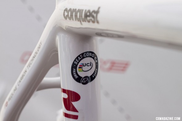 Don't worry, it's approved. You can race a UCI race on the Conquest Team or Conquest Pro. ©Cyclocross Magazine