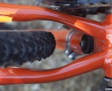 Plenty of mud clearance on the Protek by Carota custom cyclocross frame. Aluminum, steel, carbo
