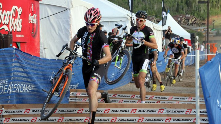 Allen Krughoff got the holeshot, and just might win the contract. ©Cyclocross Magazine