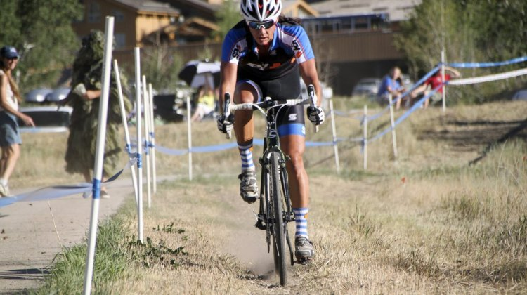 Duke in control at the 2012 Raleigh Midsummer Night Cyclocross Race. @Cyclocros