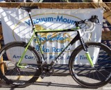 Ryan Trebon's new custom Cannondale SuperX cantilever brake carbon cyclocross bike. © Cyclocross Magazine