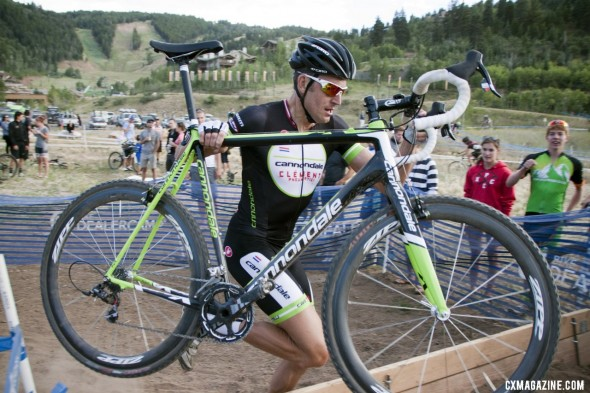 Ryan Trebon (Cannondale-Clement) won his first cx race on his Cannondale SuperX. 2012 Raleigh Midsummer Night Cyclocross Race. @Cyclocross Magazine