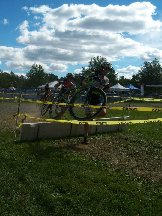 Looking pro and feeling tough going over the barriers on Saturday at Nittany. Ryan Malinchak