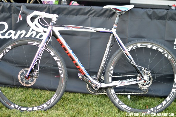 Jeremy Powers' prototype Focus Mares Disc cyclocross bike, with Avid BB7 SL brakes. ©Cyclocross Magazine