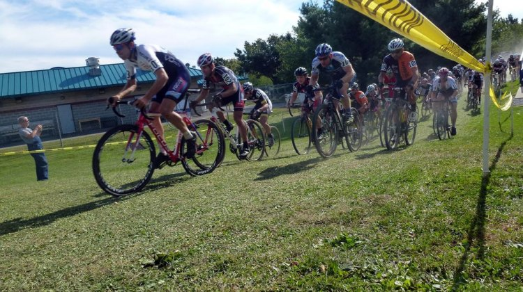 The start of the men's race at Nittany last weekend. Cyclocross Magazine