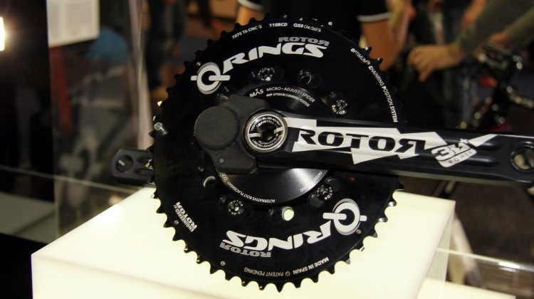 The Rotor Power crankset boasts two integrated power meters. Placement of 8 strain-gauges (4 in each crank arm) gives accurate, clean, noise free data from shifting, rough roads or sprinting.•Just 30g more than our 3D+ MAS crank.