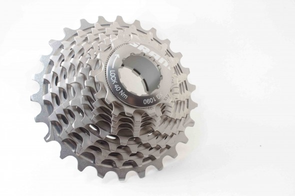 The 2012 SRAM Red cassette is designed for quiet.