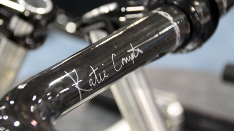 Katie Compton's new signature handlebar: Thompson's KFC One carbon fiber cyclocross bar.