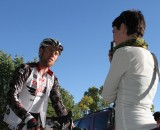 Interviewing Lukas Fickinger at the USGP in Sun Prairie, a teensy bit startstruck. © Amy Dykema