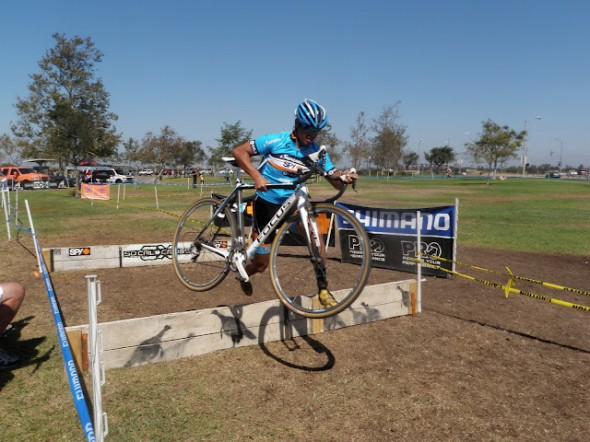 Brian Co takes the barriers in Southern CA.