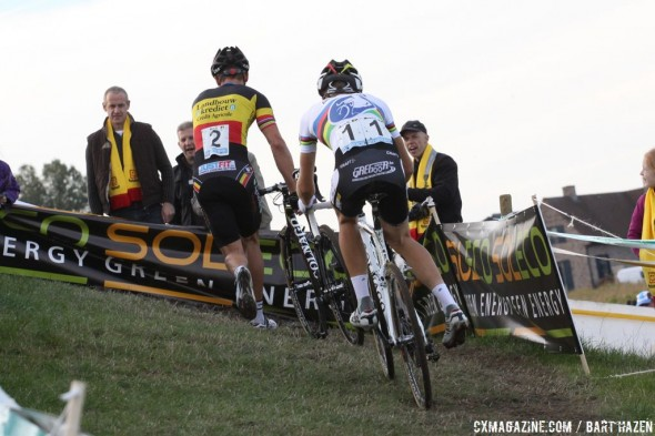 Sven Nys continues his Superprestige domination with his 56th win in the series. ©Bart Hazen