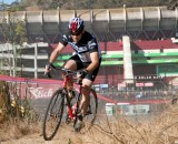 Racing in front of the famous NFL stadium at Candlestick Park. ©Cyclocross Magazine