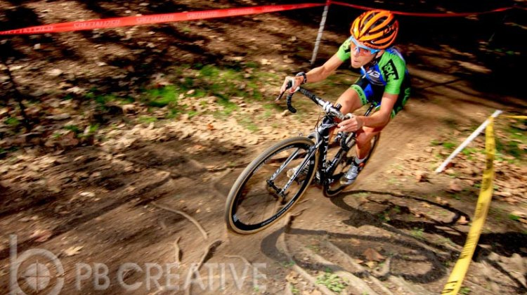 Carolin Schiff (SDG/Felt/IRT/SPY) clinched the SoCalCross elite Women's A title for 2012-13 with her ninth straight Prestige Series victory. The German now has to return home due to visa restrictions. © Phil Beckman/PB Creative