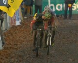 Sven Nys Took a Fierce Klaas Vantornout at the line.