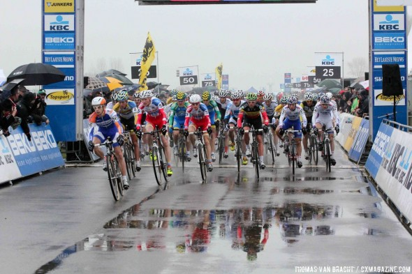 It was a wet day at Koksijde © Thomas van Bracht