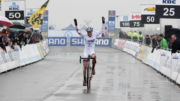 Katie Compton wins the Koksijde World Cup © Thomas van Bracht