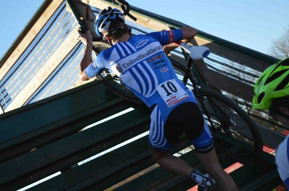 Danny Summerhill shows off his new team kit at the USGP in Louisville. © Cyclocross Magazine
