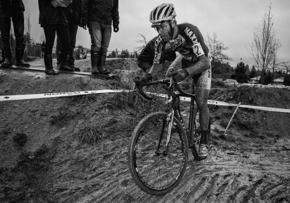 The muddy course proved challenging and messy for racers this weekend. © Doug Brons