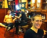 Dyck cringes a bit while Craig remains calm getting their winning tattoos. Photo courtesy of SSCXWC