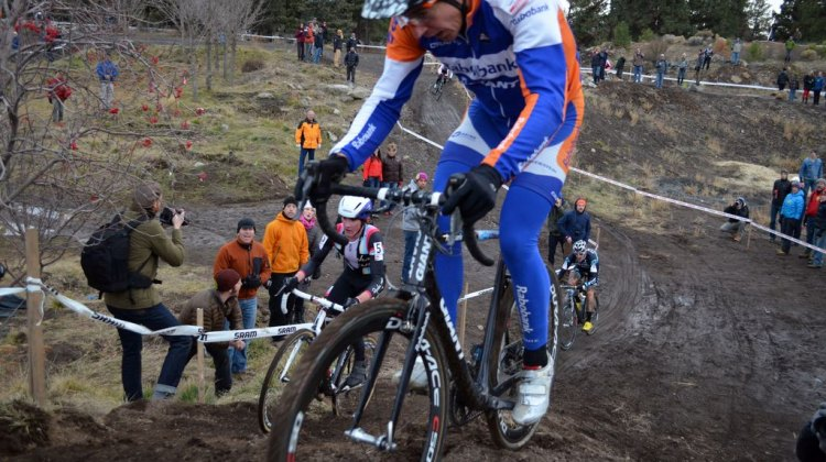 "Craig rides the ""unrideable"" line. © Cyclocross Magazine"