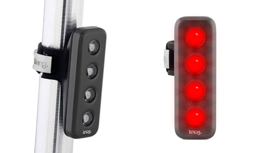 The Knog blinder front and rear lights.