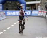Logan Owen, shown here winning at Namur, took second today at World Cup Zolder  © Bart Hazen