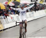 Katie Compton, shown here at Koksijde, won again today at Roubaix.  © Bart Hazen
