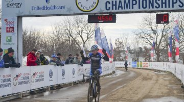 Erica Zaveta of Brevard College cruised to an easy Division 1 Collegiate National Championship. © Cyclocross Magazine