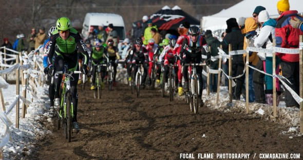 Trebon led Summerhill and the rest of the field through the first dirt sections, but Summerhill soon took over. © Focal Flame Photography