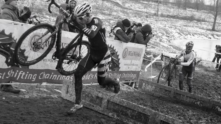 Russel Stevenson wins his first title with a Masters 35-39 win. 2013 Cyclocross Nationals.© Cyclocross Magazine
