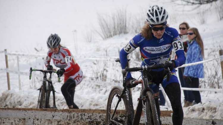 Karen Brems raced to another championship with her 50-54 2013 Cyclocross National Championship. © Cyclocross Magazine