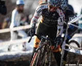 Jade Wilcoxson had the cyclocross race of her life, catching and outsprinting Nicole Duke for second at the 2013 National Championships © Meg McMahon
