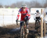 Miller having a strong race after an injury-shortened season. Elite Women, 2013 Cyclocross National Championships. © Meg McMahon